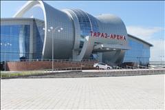 Футзал | Волейбол | Баскетбол в малом зале (терафлекс) спорт-комплекса Тараз Арена Универсальный зал цена от 9000 тг на Тауке Хана 22