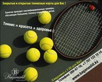 Теннисные корты в Баганашыле цена от 2500 тг на ул.Санаторная,14